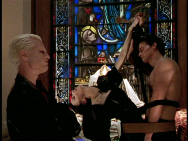 Spike brought Drusilla to the Hellmouth for the ritual to cure her mystical illness.