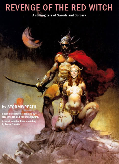 Revenge of the Red Witch - after Frank Frazetta